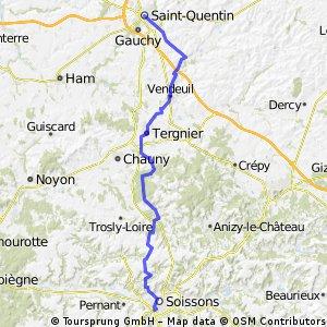 Soissons-Coucy le Château-Saint Quentin