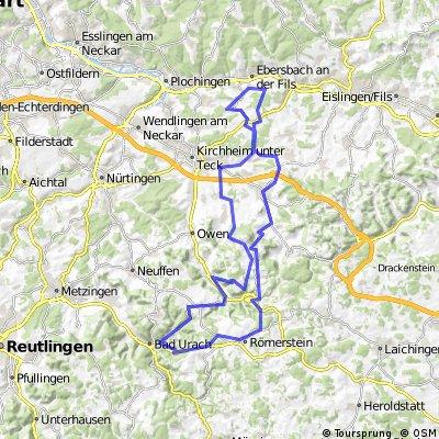 Randecker Maar- Bad Urach-Ochsenwang-Nabern