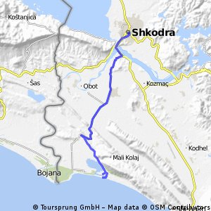 Cycling routes and bike maps in and around Shkodr Bikemap Your