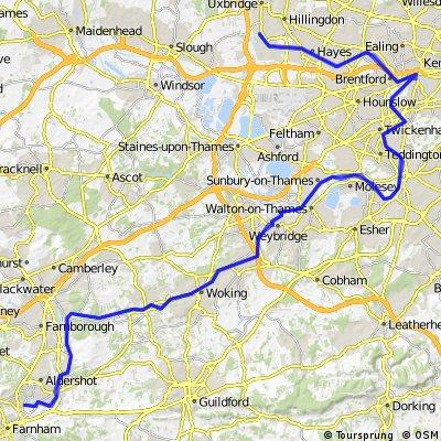 Dy 2 Basingstoke to Kendal:Farnham to Hillingdon