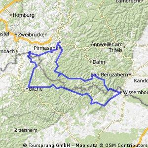 RTF Schlappeflicker-Radmarathon 2010 des 1. RSV Pirmasens 1925 e.V - 158 km Strecke