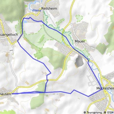 Schatthausen - Bammental - Meckesheim -Schatthausen