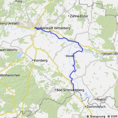 Elberadweg (Sachau-Petzsch-Klöden-Elster-Wittenberg)