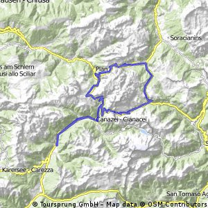 Cycling routes and bike maps in and around Pozza di Fassa | Bikemap ...
