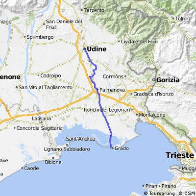 Ciclovia Alpe-Adria 8. cycle section: Udine-Grado
