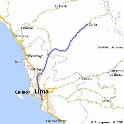 Lima to Canta