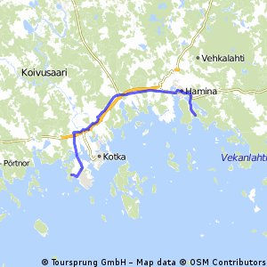 Cycling routes and bike maps in and around Hamina Bikemap Your