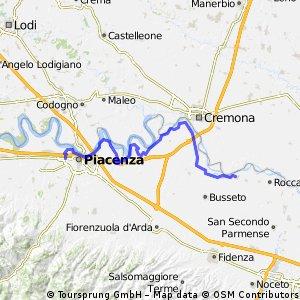 Via del Po da Piacenza a Zibello