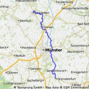 Werseradweg Drensteinfurt Emsdetten über Emsradweg