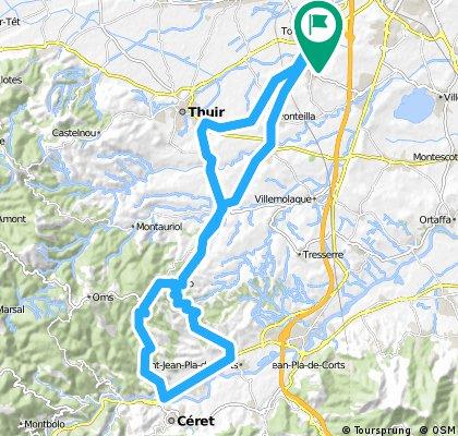 Aspres - Vallespir avec retour par Vives