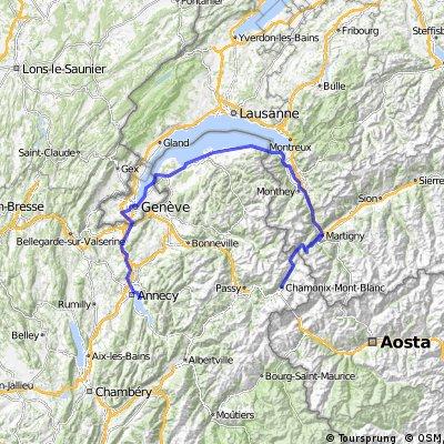 CHX - Annecy via Lake GVA