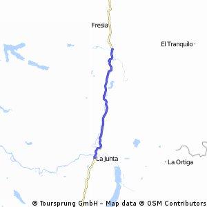 Carretera Austral 8. Etappe Villa Vanguardia - La Junta