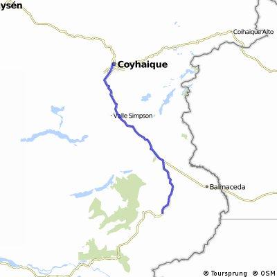Carretera Austral 13.Etappe Cohaique - Laguna Chiguay