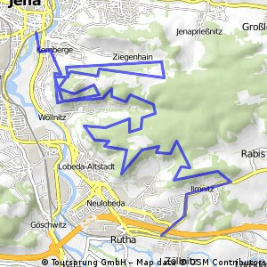 Jena Kernberge - Mittlere Horizontale mit Wöllnitzstrudel