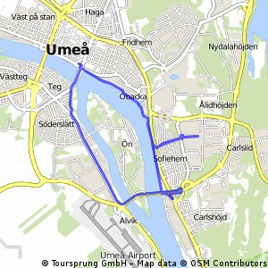 Cycling routes and bike maps in and around Ume Bikemap Your