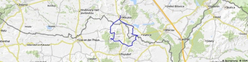 Mikulov - Falkenstein - Valtice - Mikulov