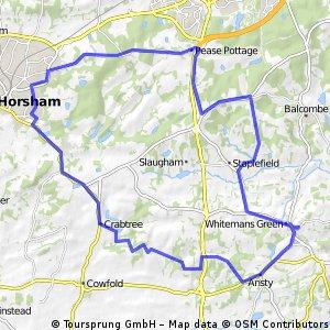 28 miles via Horsham