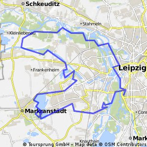 Leipzig Mittlere MTB Hügeltour 60 km