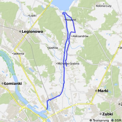 Trasa nad Zegrze wzdłóż kanału Żerańskiego