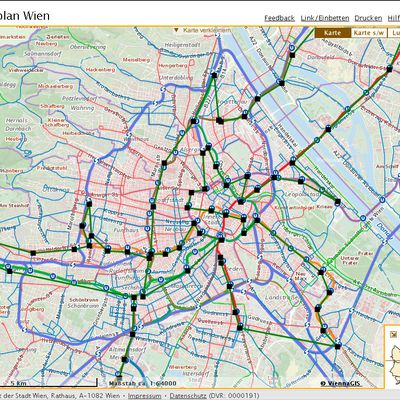 Record Trackn Roads of All Viennese Subway Stations
