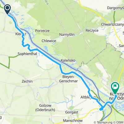 Groß Neuendorf (Oder) - Bleyen - Küstrin (Polen)