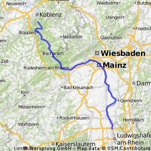 Ludwigshafen Lahnstein links des Rheins
