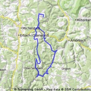 Runde Vielbrunn - Eulbach - Boxbrunn - Watterbach - Kirchzell - Ernstthal - Seitzenbuche - Kailbach - Schöllenbach - Hesselbach - Würzberg
