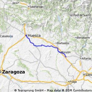 HUESCA - BINEFAR 83.37 KMS