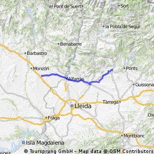 BINEFAR- ARTESA DE SEGRE 82.66 KMS