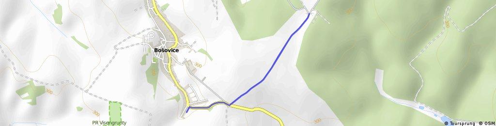Trasa Bošovické šlapky - cyklo - 5km