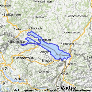 Cycling routes and bike maps in and around Kreuzlingen Bikemap