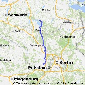 D 306: Ketzin - Nauen - Alt-Ruppin - Waren