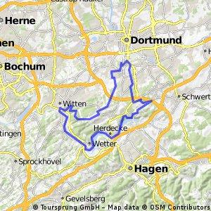 Bittermark - Wannebachtal - Ruhrtal - Hohenstein zurück nach Hombruch