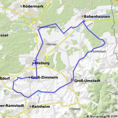 Kleine Tour der Hoffnung (60-km-Runde)
