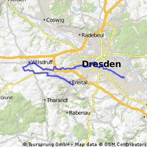 Dresden - Wilsdruff - Kesselsdorf - Niederhermsdorf - Freital Potschappel - Dresden