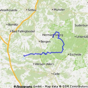 Von Hermannsburg nach Gut Sunder