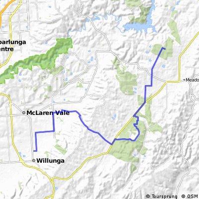 Day 1: Kidman Trail: Willunga to Rocky Creek Hut