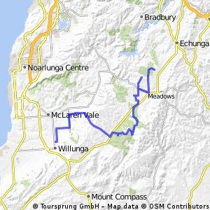 Day 1; Kidman Trali: Willunga to Rocky Creek Hut