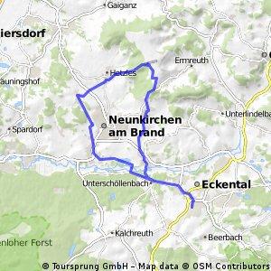 Eschenau-Großenbuch-Hetzles-Ebersbach-Dormitz-Eschenau