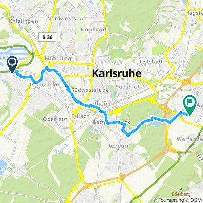 Daxlanden nach Durlach-Aue