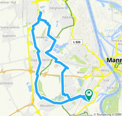Mundenheim Frankentahl Rundtour