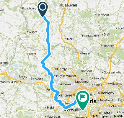 Stage 3 - Ons-En-Bray to Eiffel Tower