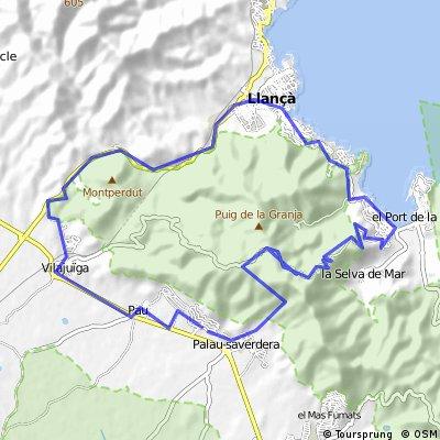 Maas Isaac-Onefret-sant Pere de Rodes-Le Port-LLanca- und zurück