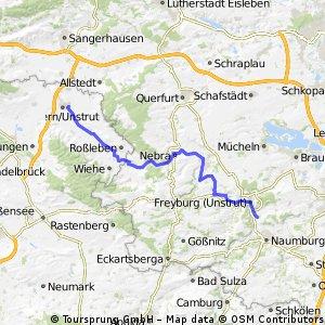 Tour 3  Großjena- Artern