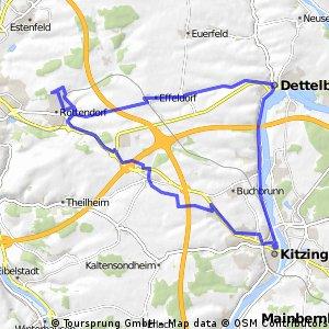 Rottendorf - Dettelbach - Kitzingen u. zurück