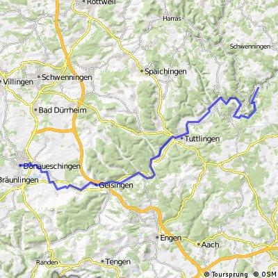 Donauradweg Donaueschingen - Beuron