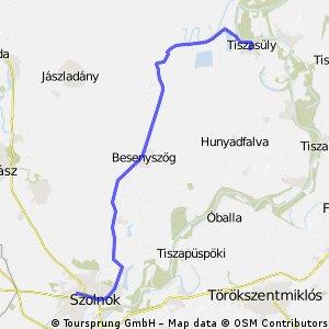Szolnok - Tiszasűly v1