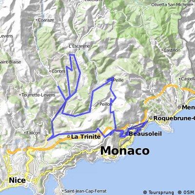 IRONMAN 70.3 Monaco - Bikesplit <> 2009-09-06