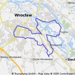 [Wrocław 01] Księże - Gaj - Powstańców - Terenowa - Brochów - Radwanice - Wały - Odra