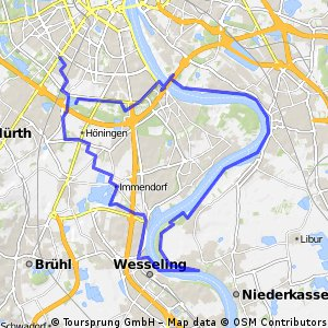 Rheinrunde ueber Porz